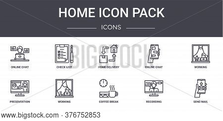 Home Icon Pack Concept Line Icons Set. Contains Icons Usable For Web, Logo, Ui Ux Such As Check List