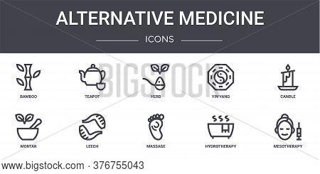 Alternative Medicine Concept Line Icons Set. Contains Icons Usable For Web, Logo, Ui Ux Such As Teap