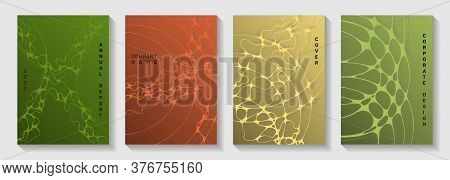 Chic Dj Party Posters. Bent Curve Lines Network Backdrops. Trendy Magazine Vector Templates. Night P