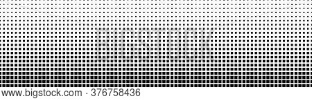 Gradient Halftone. Abstract Gradient Background Of Black Squares. Vector Illustration. Seamless Patt