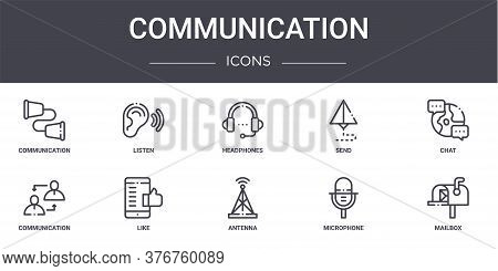 Communication Concept Line Icons Set. Contains Icons Usable For Web, Logo, Ui Ux Such As Listen, Sen