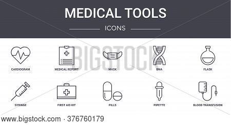 Medical Tools Concept Line Icons Set. Contains Icons Usable For Web, Logo, Ui Ux Such As Medical Rep