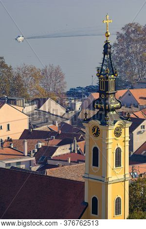 Orthodox Church Of The Holy Father Nicolai In Zemun Municipality Of Serbian Capital Belgrade With Da