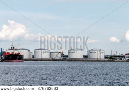 Latvia, Ventspils, July 16, 2020: As Ventbunkers Terminals. Transhipment Terminals