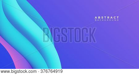 Abstract Fluid Purple Violet Background Templates , Abstract Widescreen Background , Purple Wide Ban