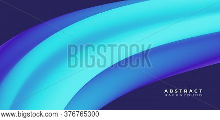 Modern Abstract Background . Neon Blue Liquid Background , Fluid Wavy Background Vector Illustration