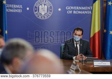 Bucharest / Romania - July 16, 2020: Ludovic Orban, The Prime Minister Of Romania, Presides Over The
