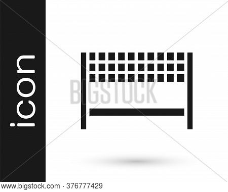 Grey Ribbon In Finishing Line Icon Isolated On White Background. Symbol Of Finish Line. Sport Symbol