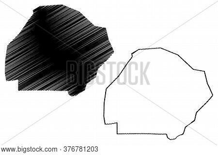 Bahawalpur City (islamic Republic Of Pakistan, Punjab Province) Map Vector Illustration, Scribble Sk