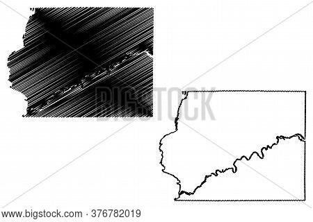 Whiteside County, Illinois (u.s. County, United States Of America, Usa, U.s., Us) Map Vector Illustr