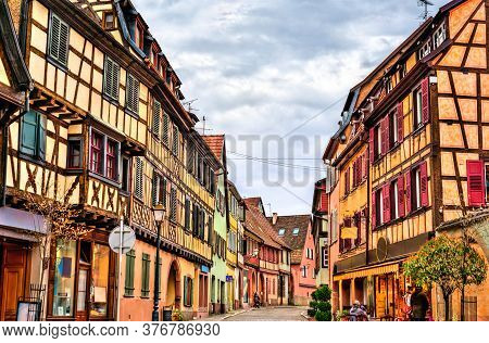 Traditional Half-timbered Houses In Barr - Bas-rhin, France