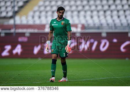Torino, (italy). 16th July 2020. Italian Football Serie A. Torino Fc Vs Genoa Cfc. Mattia Perin Of G