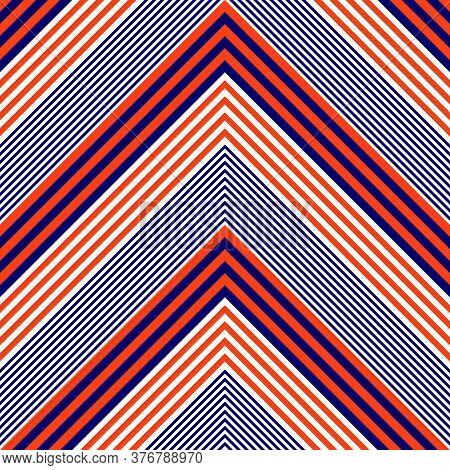 Orange Chevron Diagonal Stripes Seamless Pattern Background
