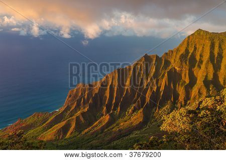 Sunset At Napali Coastline