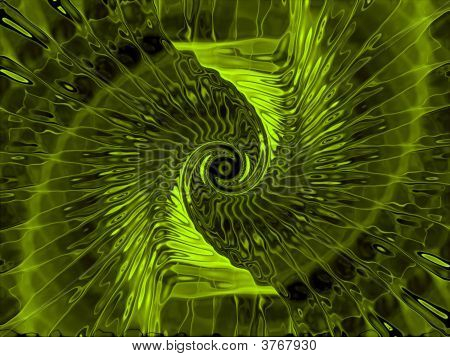 Unknown Fantasy Alien Computer Generated Green Abstract