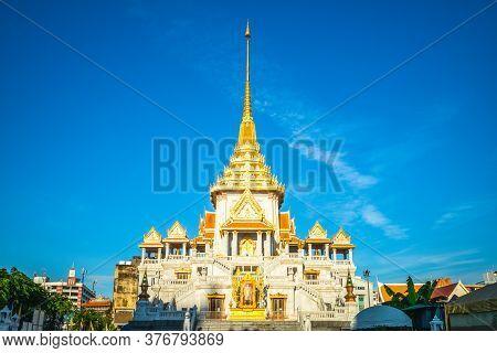 Facade Of Wat Traimit In Bangkok, Thailand