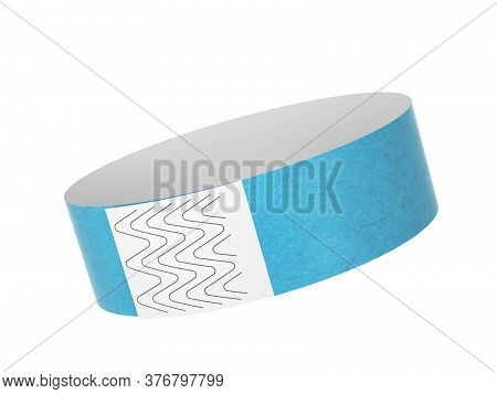 Blank Paper Event Bracelet. 3d Illustration Isolated On White Background