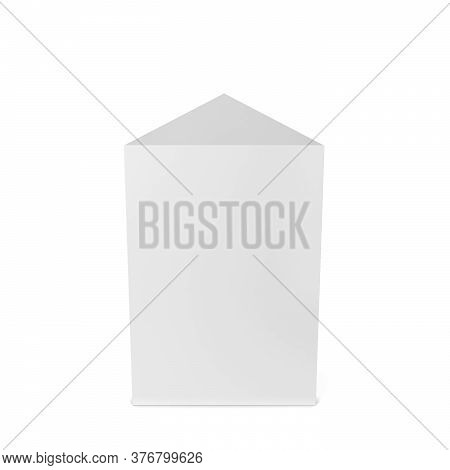 Triangular Prism Figure. 3d Illustration Isolated On White Background
