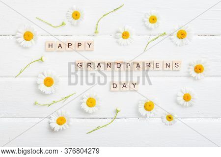Happy Grandparents Day Background. Grandparents Holiday Gift Card, Granny And Grandpas Day Celebrati