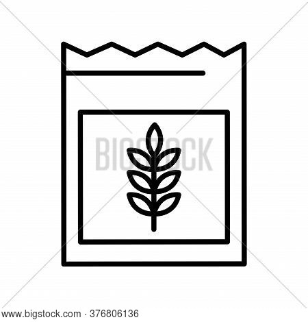 Wheat Ear Seeds Bag Line Style Icon Design, Farm Agronomy Lifestyle Agriculture Harvest Rural Farmin