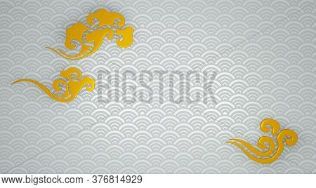 Japanese White Background Floor And Wall Background. 3D Rendering
