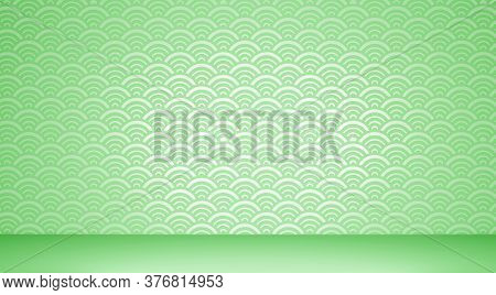 Japanese Background Floor And Wall Background. 3D Rendering