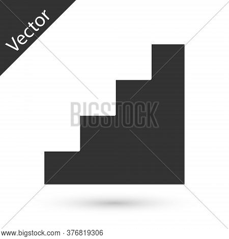 Grey Staircase Icon Isolated On White Background. Vector