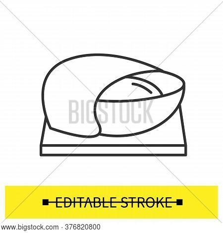 Dough Icon. Gluten Relaxing And Active Yeast Fermentation Line Pictogram. Concept Of Home Bread Baki