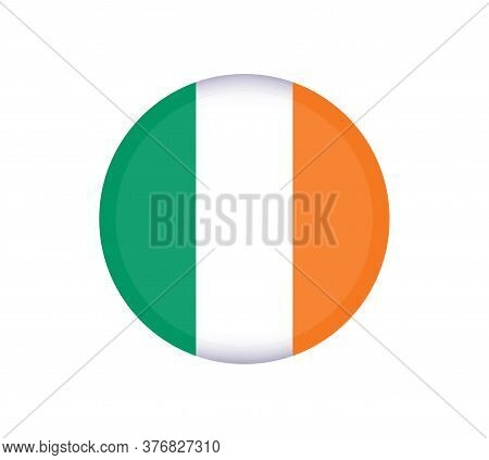National Ireland Flag, Official Colors And Proportion Correctly. National Ireland Flag. Vector Illus
