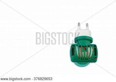 Green Fumigator Isolated On White Background. Insect Fumigator Top View.