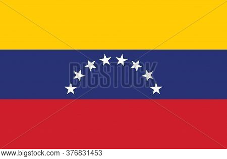 National Venezuela Flag, Official Colors And Proportion Correctly. National Venezuela Flag.