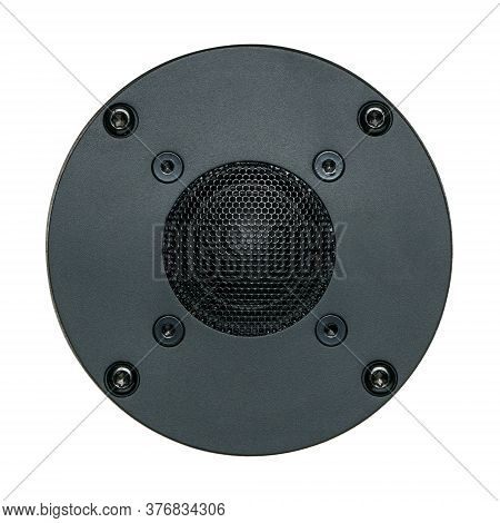 A Black Tweeter Speaker Cone, Single Object