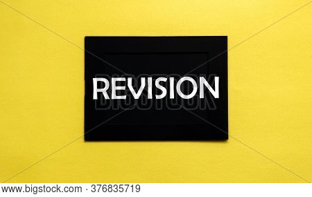 Black Pancel Write A Text Revision On The Yellow
