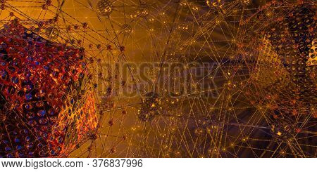 3D illustration of abstract technology digital hi tech concept ready for banner background