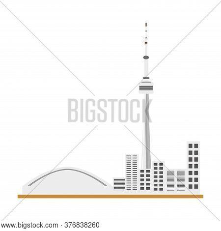 City Landmark Of Toronto. Canadian National Tower - Vector