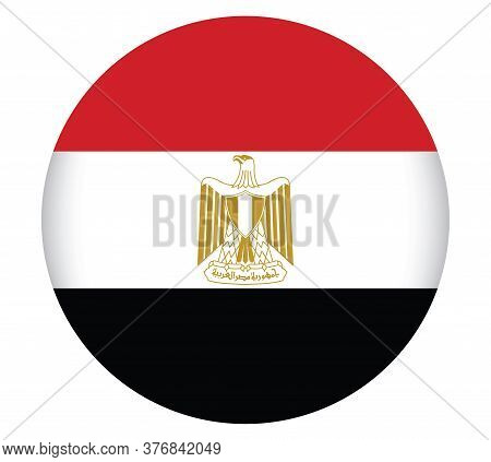 National Egypt Flag Official Colors And Proportion Correctly. National Egypt Flag  Vector Illustrati