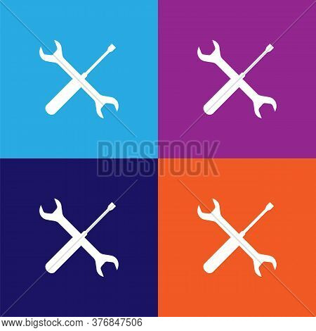 Screwdriver Spanner Premium Quality Icon. Elements Of Constraction Icon. Signs And Symbols Collectio