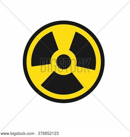 Vector Symbols Of Radiation. Illustration In A Flat.