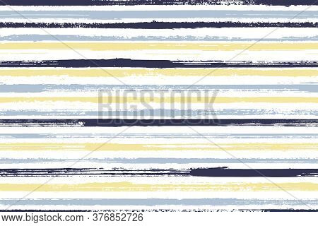 Ink Brush Stroke Rough Stripes Vector Seamless Pattern. Classic Candy Wrap  Sweet Design. Grainy Geo