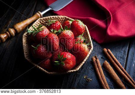 Eating Fresh Strawberry