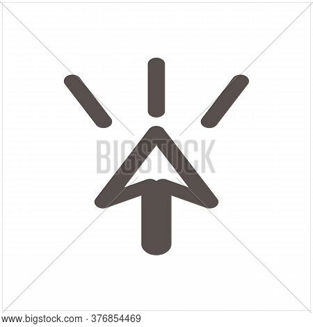 Click Icon Isolated On White Background. Click Icon In Trendy Design Style