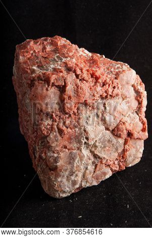 A Large Red Orange Potash Mineral Sample