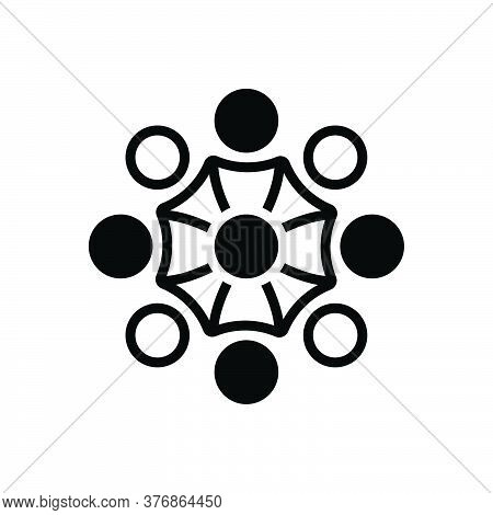 Black Solid Icon For Support Team-support Call-center Cooperation Headset Team Unity Enablers Endors