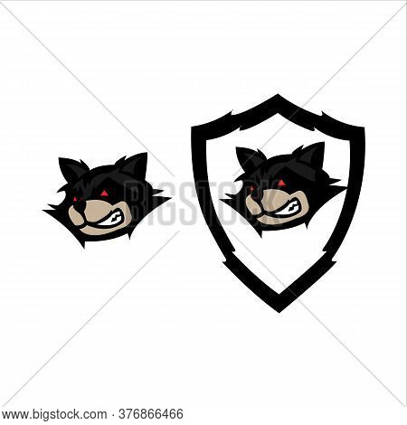 Fox Mascot Sport Logo Design. Fox Animal Head Mascot Vector Illustration Logo. Wild Red Fox Mascot D