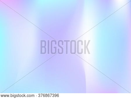 Hologram Abstract Background. Neon Gradient Mesh Backdrop With Hologram. 90s, 80s Retro Style. Pearl
