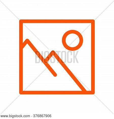 Image Icon Vector Illustration. Isolated Picture Symbol. Image Line Concept. Photo Frame Graphic Des