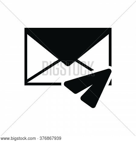 Black Solid Icon For Direct-message Inbox-message Notification Communication Envelope Reminder News
