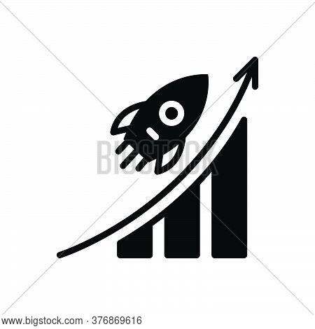 Black Solid Icon For Career-advancement Career Advancement Promotion Analysis Successful Opportunity