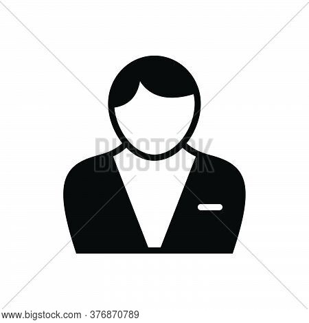 Black Solid Icon For Male Adult Businessman Man Men People Human Person Masculine