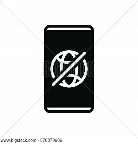 Black Solid Icon For Offline Connection Technology Transmit Transmission Wireless Prohibition Restri